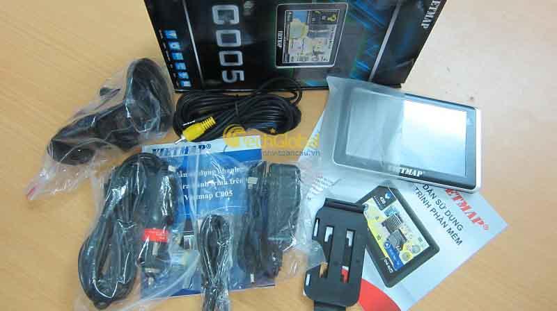 Hình ảnh full box thiết bị định vị dẫn đường C005
