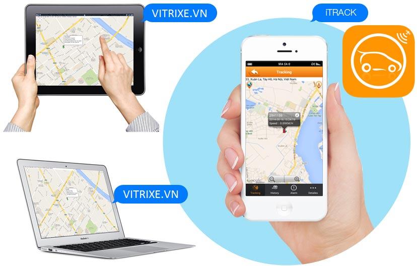 Theo dõi Thiết bị định vị ô tô PT08 qua phần mềm định vị GPS