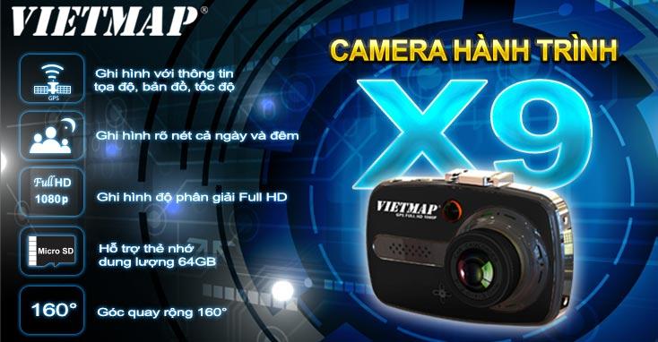 Thông số kỹ thuật của camera hành trình Vietmap X9 có GPS
