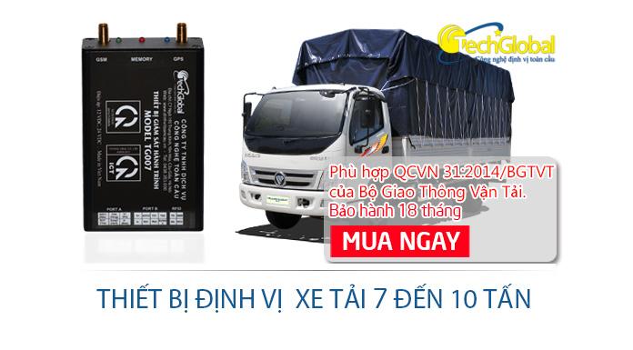 Thiết bị định vị xe tải 7 tấn đến 10 tấn hợp chuẩn bộ GTVT