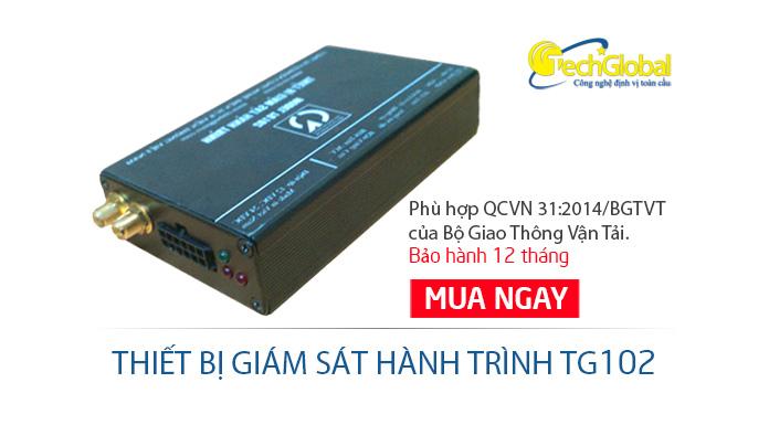 Thiết bị giám sát hành trình TG102 hợp chuẩn bộ GTVT
