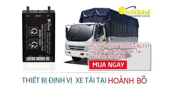 Thiết bị định vị xe tải tại Hoành Bồ Quảng Ninh hợp chuẩn
