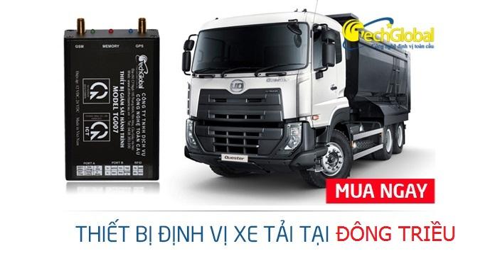 Lắp định vị xe tải tại Đông Triều Quảng Ninh chính hãng Techglobal
